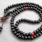 Tibet Buddhist 108 Black Sandalwood Beads Prayer Mala Necklace  6mm  ZZ013