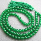Tibetan Buddhist 108 Jade Beads Prayer Mala Necklace  10mm  ZZ017