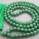 Tibet Buddhist 108 Malay Jade Beads Prayer Mala Necklace  8mm  ZZ019