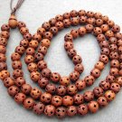 Tibet Buddhist 108 Wood Lu-Lu Tong Beads Prayer Mala Necklace 10mm  ZZ048