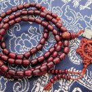 Tibet Buddhist 108 Purple Sandalwood Beads Prayer Mala Necklace  ZZ052