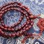 Tibet Buddhist 108 Purple Sandalwood Beads Prayer Mala Necklace  ZZ052