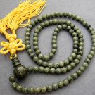 Tibetan Buddhist 108 Jade Beads Prayer Mala Necklace 6mm  ZZ058