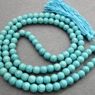 Tibet Buddhist 108 Turquoise Gem Beads Prayer Mala Necklace 10mm  ZZ063