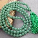 Tibet Buddhist 108 Jade Beads Prayer Mala Necklace 10mm  ZZ073