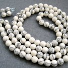 Tibet Buddhist 108 White Turquoise Gem Beads Prayer Mala Necklace 8mm  ZZ076