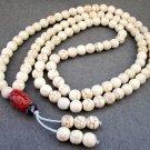 Tibet Buddhist 108 White Turquoise Gem Beads Prayer Mala Necklace 8mm  ZZ077