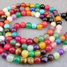 Tibet Buddhist 108 Jade Beads Prayer Mala Necklace 8mm  ZZ078