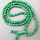 Tibet Buddhist 108 Green Stone Beads Prayer Mala Necklace 6mm  ZZ101