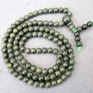 Tibet Buddhist 108 Floral Stone Beads Prayer Mala Necklace 6mm  ZZ102