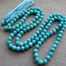 Tibet Buddhist 108 Jade Beads Prayer Mala Necklace 8mm  ZZ114