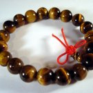 10mm Tiger Eye Gem Beads Tibet Buddhist Prayer Mala Bracelet Wrist  T0006