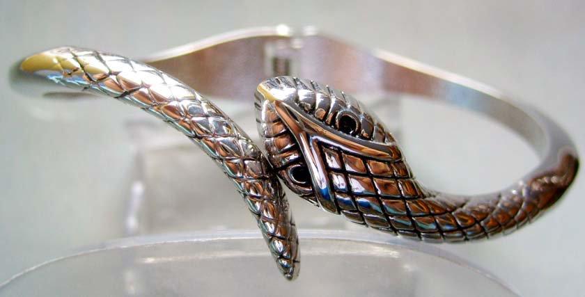 Stunning Designed Tibet Tribal Alloy Metal Snake Bangle Bracelet  T0009