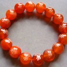 10mm Red Agate Beads Tibetan Buddhist Prayer Mala Bracelet FO Lotus  T0013