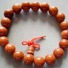 10mm Tibetan 19 Energy Goldstone Gem Beads Prayer Mala Bracelet Wrist  T0018