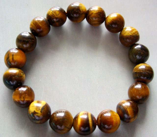 10mm Tiger Eye Gem Sphere Beads Tibetan Buddhist Prayer Mala Bracelet  T0019
