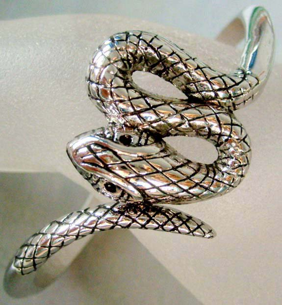 Tibetan Tribal Alloy Metal Snake Bangle Bracelet  T0060