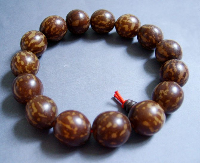 12mm Tibet Pu-Ti Bodhi Seed Beads Buddhist Prayer Bracelet Wrist Mala T0147