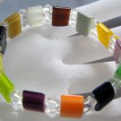 Multi-Color Cat Eye Gem Crystal Quartz Beads Elastic Bracelet  T0245