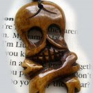Ox Bone Carved Skull Head Skeleton Pendant 40mm*25mm  T0280