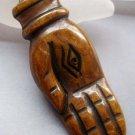 Ox Bone Carved Eye In Buddha Hand Pendant 55mm*20mm  T0283