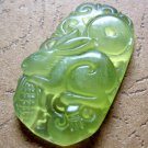 Light Green Jade Fortune Zodiac Rabbit Maize Amulet Pendant 37mm*21mm  T0401