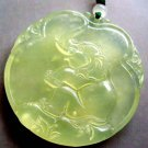 Light Green Jade Seated Elephant Pendant 45mm*45mm  T0441