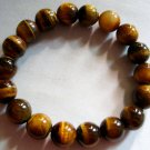 10mm Tiger Eye Gem Beads Tibetan Mediation Prayer Yoga Bracelet  T0569