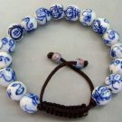 10mm Hand Crafted Chinese Porcelain Insect Beads With Adjustable Bracelet  T0713