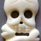 White Ox Bone Carved Skull Head Skeleton Pendant 43mm*23mm  T0740