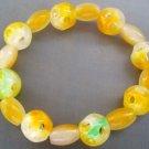Yellow Green Jade Lu Lu Tong Drum Beads Jewelry Bracelet  T0821