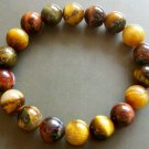 10mm Genuine Tiger Eye Beads Tibet Meditation Yoga Wrist Mala Bracelet  T0835