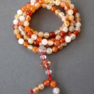6mm 108 Flower Agate Beads Tibet Buddhist Prayer Rosary Mala Necklace  ZZ132