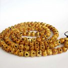 10mm Ox Bone Skull Beads Tibet Buddhist Prayer Rosary Mala Necklace  ZZ133