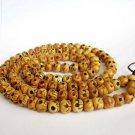 10mm Ox Bone Skull Beads Tibet Buddhist Prayer Rosary Mala Necklace  ZZ133
