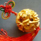 Boxwood Carved Dragon Puzzle Ball Pendant Netsuke 35mmm*35mm  T0934