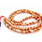 8mm Vintage Style Porcelain Beads Tibet Buddhist Prayer Japa Mala Necklace  ZZ151
