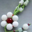 Natural Jade Jadeite Flower Pendant Necklace 25mm*25mm  T1071