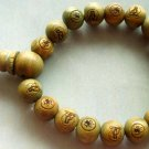 10mm Green Sandalwood Beads Tibet Buddhist Prayer Mala Bracelet Kwan-Yin FO  T1149