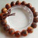10mm Rosewood Kwan-Yin FO Beads Buddhist Prayer Mala Bracelet Wrist  T1184