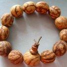 15mm Muo-Ni Bodhi Pu-Ti Beads Tibet Buddhist Prayer Mala Bracelet  T1225