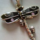 Enamel Alloy Metal Dragonfly Skull-Heads Pendant 50mm*45mm  T1247