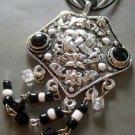 Tibetan Style Alloy Metal Pendant Necklace 48mm*40mm  T1409