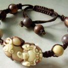 Zipao Jade Pi-Xiu Dragon Bead Beads Bracelet  T1463