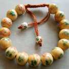 10mm Handcrafted Wheat Porcelain Flower Beads Bracelet  T1498