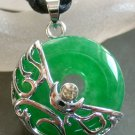 Acrylic Diamond Malay Jade Alloy Metal Pendant 21mm*21mm  T1512