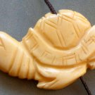Ox Bone Carved Longevity Turtle Pendant Bead 40mm*22mm  T1545