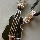 Enamel Alloy Metal Musical Instrument Guitar Pendant 46mm*20mm  T1556