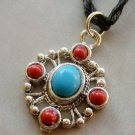 Tibetan Style Alloy Metal Pendant Necklace 30mm*25mm  T1637