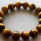 12mm Genuine Tiger Eye Beads Yoga Meditation Prayer Mala Bracelet  T1711